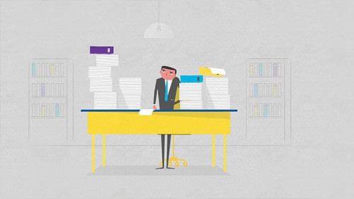 סרטון מוצר המציג אפליקציה חדשנית לעורכי דין